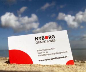 Nyborg Grafik og Web visitkort