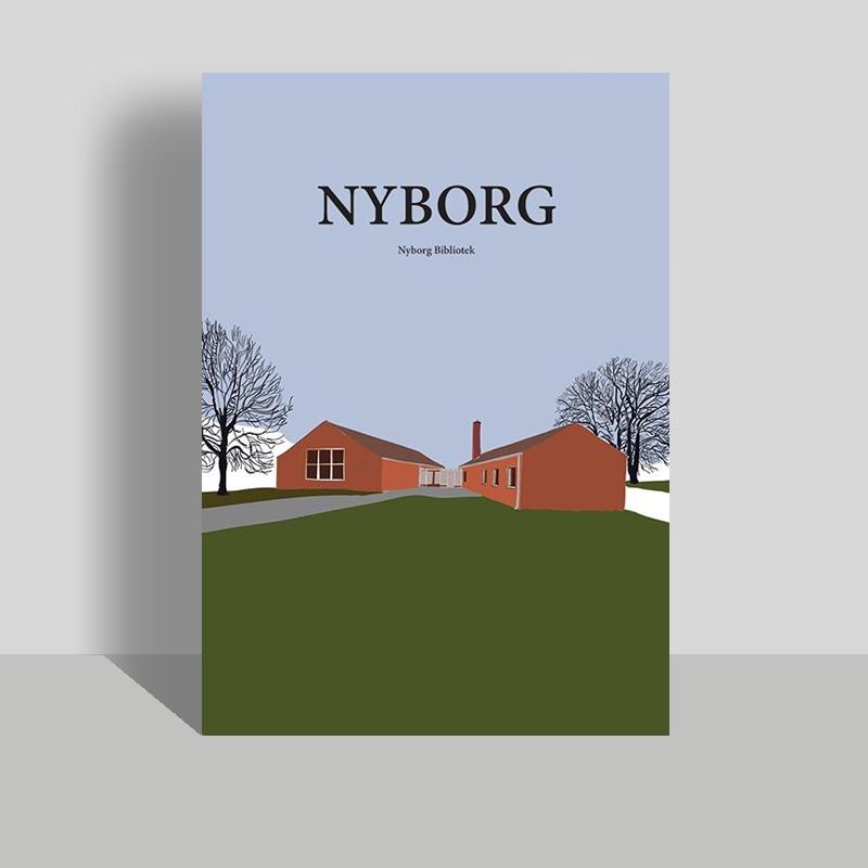 Nyborg Bibliotek, plakat og postkort