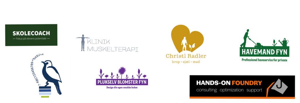 Logoer designet af Nyborg grafik & Web